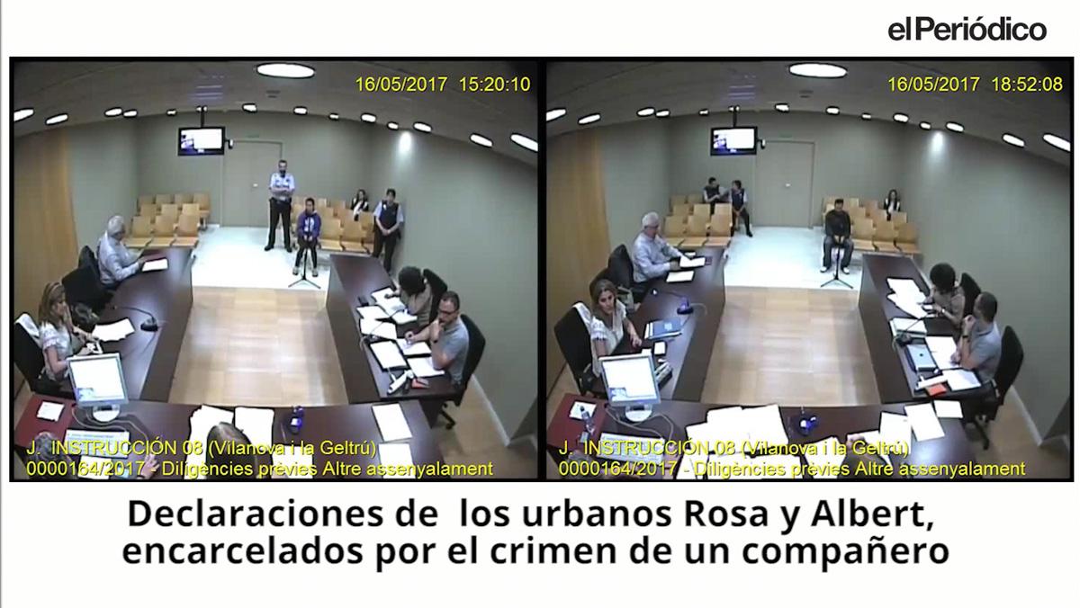 Declaraciones transcritas de los guardias urbanos Rosa y Alberto