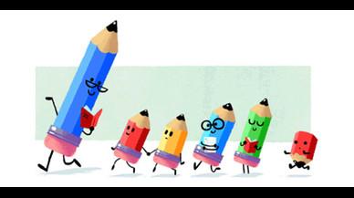 Google dedica el seu 'doodle' al Dia del Mestre a Espanya