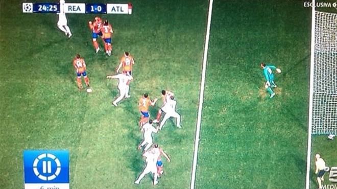 Ramos va marcar en clar fora de joc