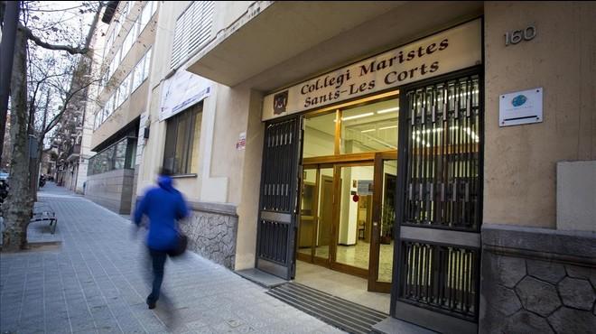 La entrada del colegio de los Maristas Sants-Les Corts