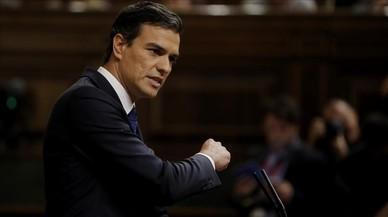 Pedro S�nchez interviene en la segunda votaci�n de la investidura de Mariano Rajoy.