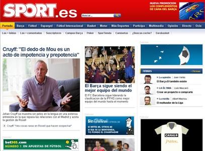 La entrevista con Cruyff de EL PERIÓDICO abre las portadas digitales de la prensa deportiva