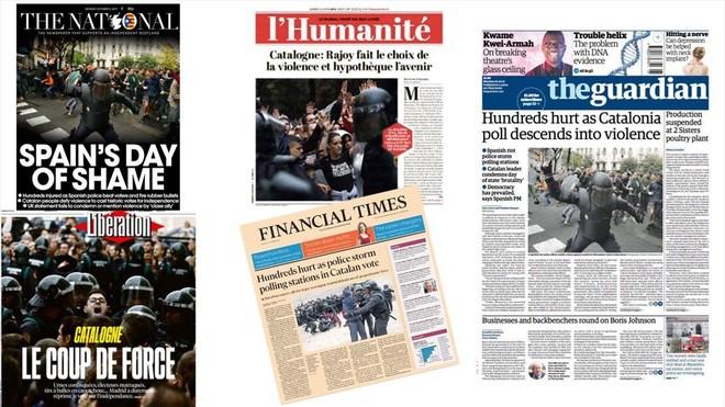La prensa internacional destaca la represión policial