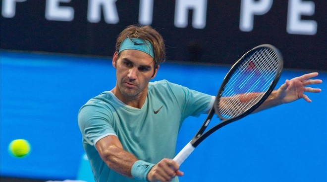 Roger Federer, en Perth.