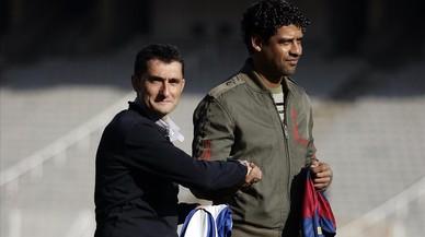Valverde, un culer entre amics periquitos