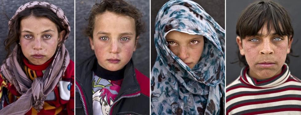 Son ni�os, son sirios, son refugiados, y te miran a los ojos para contarte sus sue�os