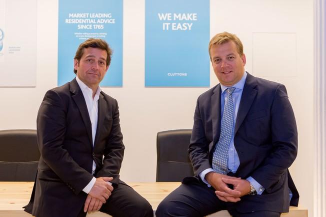 Isidre Valldosera y Steve Morgan, en las oficinas de Cluttons, en Barcelona.