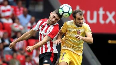 El Girona suma la primera derrota a Primera a San Mamés