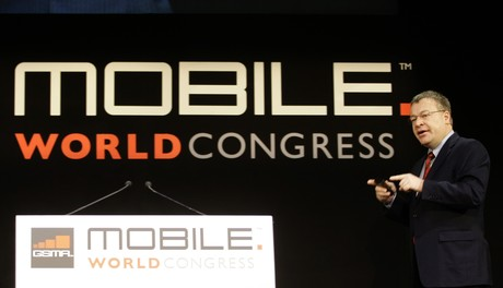 Stephen Elop, en el Mobile World Congress de de Barcelona en el 2011.