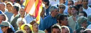 Manifestación independentista en la Diada del año 2000.