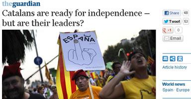¿Están preparados los líderes catalanes para la independencia?, se pregunta la prensa británica
