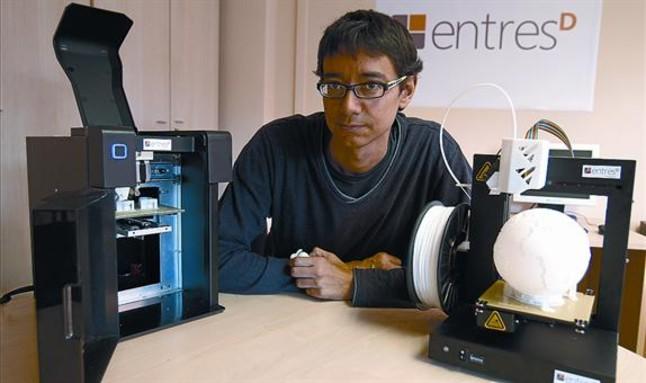 EntresD prepara máquina de reciclaje de residuos de impresión 3D