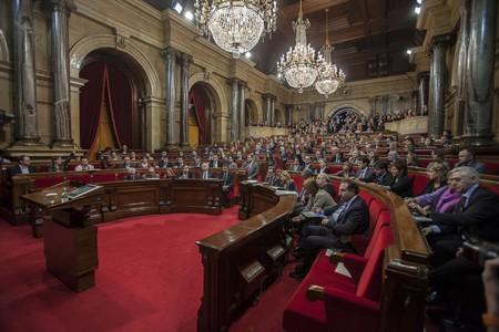 Pleno del Parlament en el que se votó la declaración soberanista, el 23 de enero del 2012.