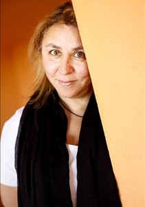 Megan Maxwell, en el restaurante El Señorío de Baena, de Sevilla la Nueva, donde vive.