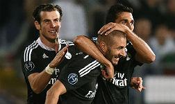 Benzema, con Bale y Arbeola.