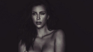 Parte de la nueva foto desnuda que ha colgado Kardashian en Twitter en menos de 24 horas.