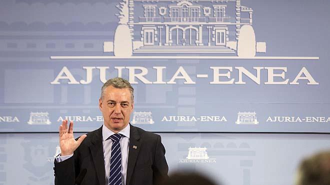 Urkullu no confirma si estará en el desarme de ETA en Bayona