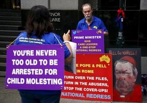 Manifestación contra los abusos sexuales a menores, en Sídney, en febrero del 2016.