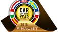 Logo que pueden usar los finalistas del Car Of The Year 2018.
