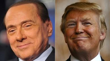 """Le preguntan a Berlusconi qué le gusta de Trump y responde: """"Melania"""""""