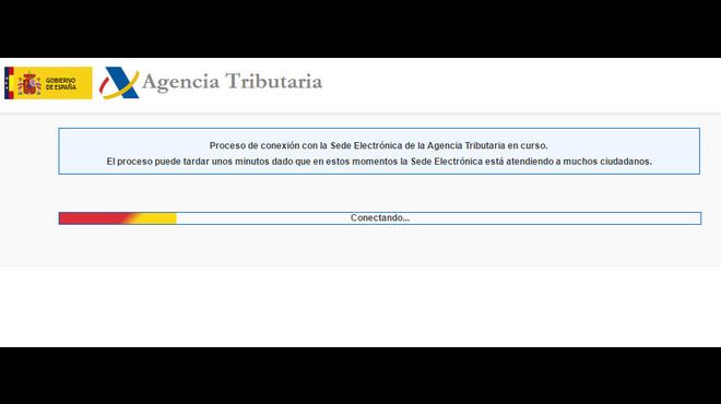 Col·lapsada la web de l'Agència Tributària en l'inici de la campanya de la renda