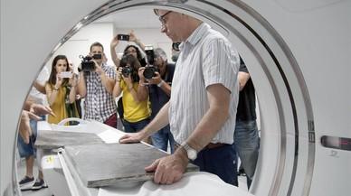 La prueba del TAC al que se ha sometido el f�sil de vaca marina se ha realizado en la Cl�nica Girona.