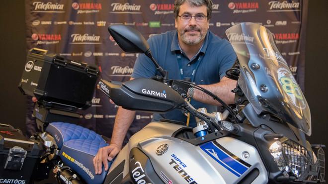 Hugo Scagnetti, protagonista de la Globalrider, primera vuelta al mundo en solitario en una moto conectada
