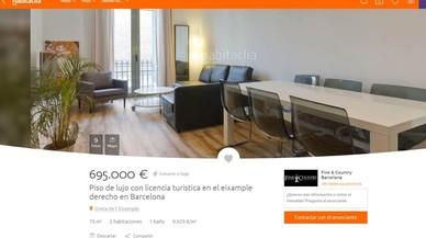 Los pisos con licencia turística pueden costar 100.000 euros más en Barcelona