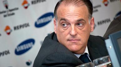 A Javier Tebas no lo quieren en El Sadar tras las acusaciones de ama�o de encuentros