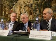 De izquierda a derecha, Corona, Grego y Gómez-Trenor.