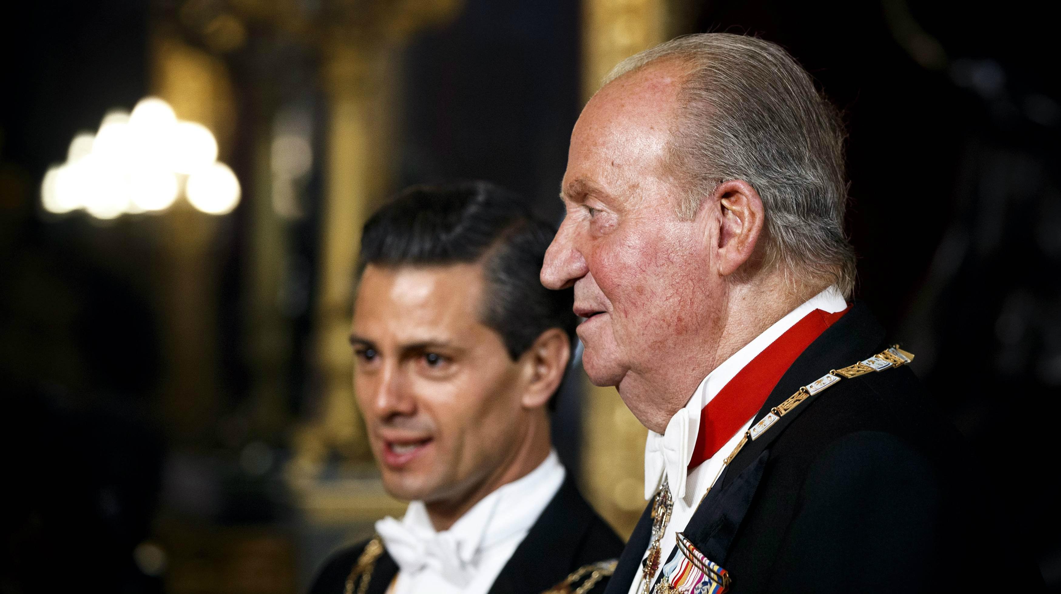 El Rei cedeix al Príncep el testimoni com a primer ambaixador davant Peña Nieto