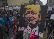 March Against Trump's Immigration Policies Takes Place In Los Angeles