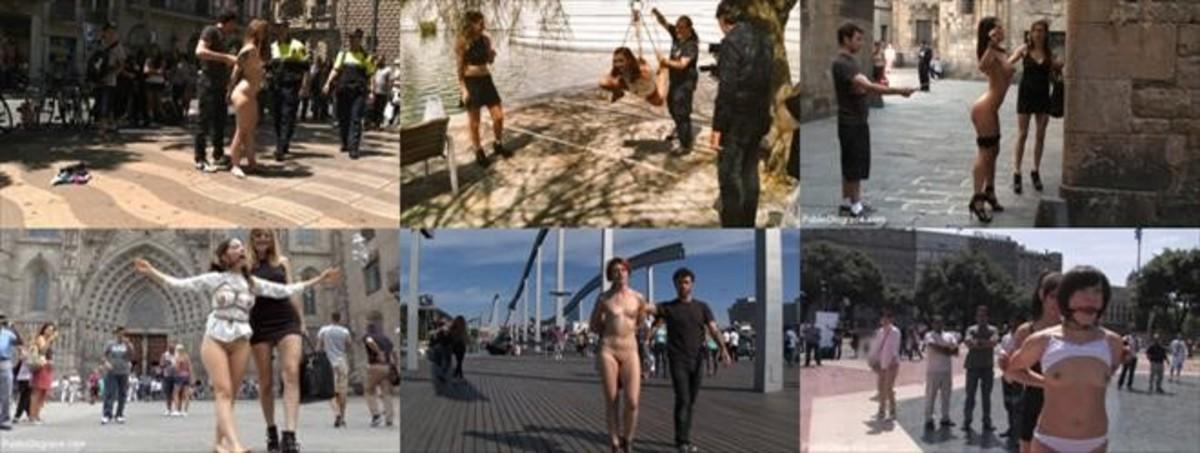 Porno furtivo en las calles de Barcelona