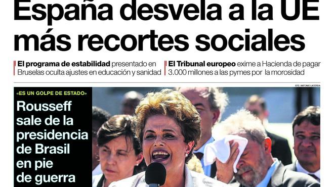 Podem també humilia avui Izquierda Unida, titula 'El Mundo'