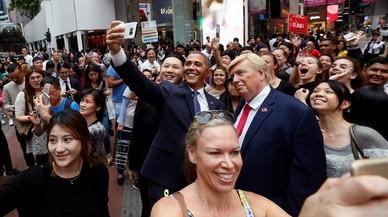 El selfi ficticio de Kim Jong-un, Donald Trump y Obama