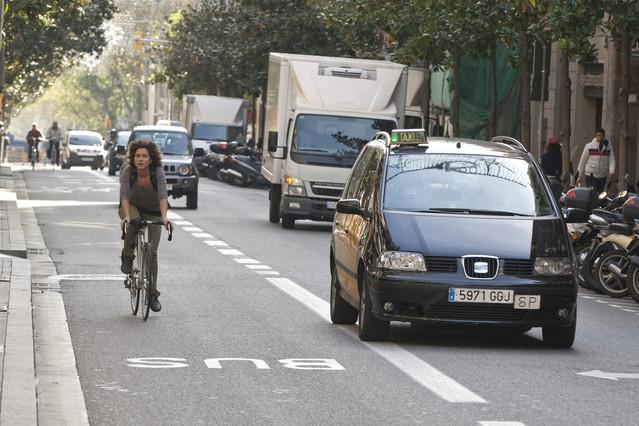 Los ciclistas de m�s all� de la Diagonal pedalean casi a ciegas