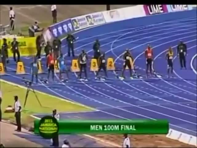 Yohan Blake con 9:75 s, se impone a Bolt en la final de 100 m lisos