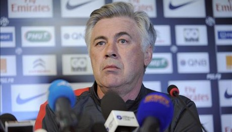 Carlo Ancelotti, en rueda de prensa.