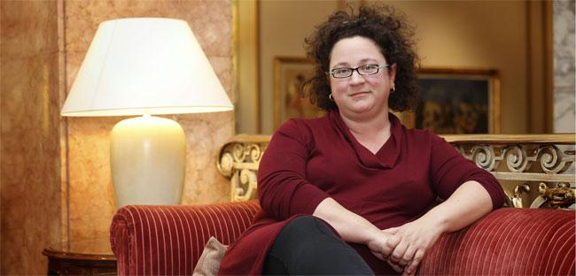 La escritora de novela negra británica Sophie Hannah, en un céntrico hotel de Barcelona.