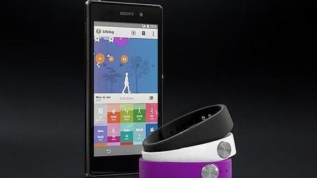 Pulsera inteligente 'smartband' de Sony.