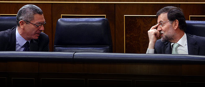 Gallard�n y Rajoy, durante una sesi�n del Congreso.