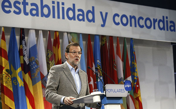 Defensa total de Rajoy y el PP a la Constitución en Segovia
