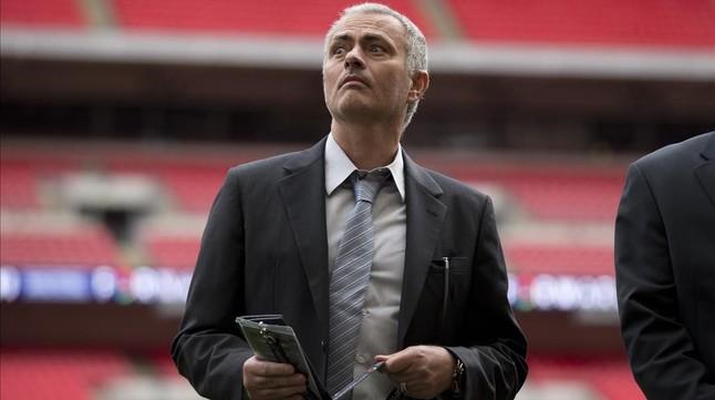 José Mourinho, durante la presentación de la candidatura de Infantino