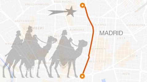 cabalgata reyes magos Madrid recorrido mapa