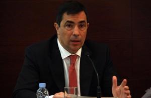 Pere Soler, en una comparecencia en el Parlament.