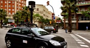 El vehículo de Google en Barcelona.