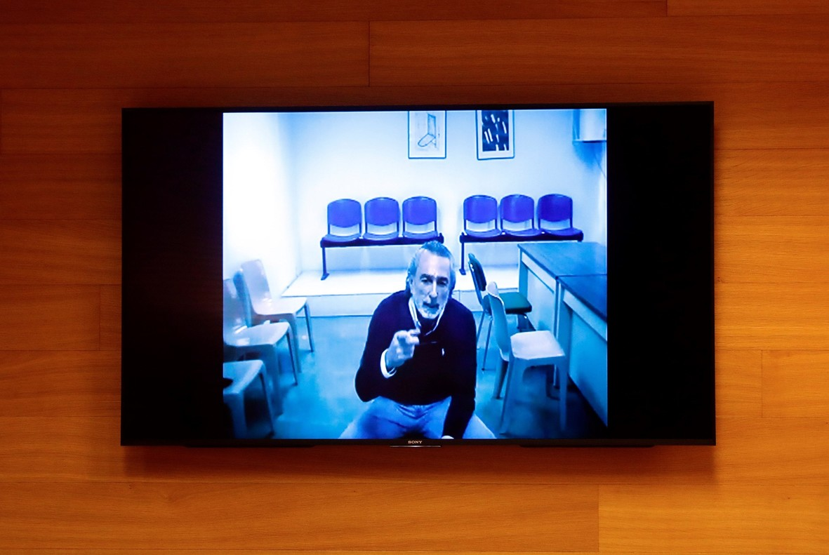 Francisco Correa, durante la videoconferencia