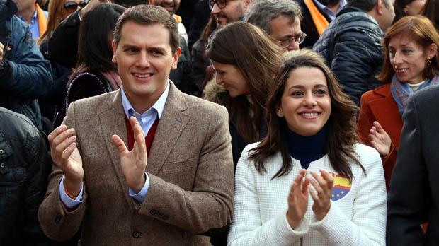 Rivera i Arrimadas, al míting de Ciutadans a Tarragona.