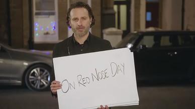 Andrew Lincoln, en el corto 'Red Nose Day Actually'.