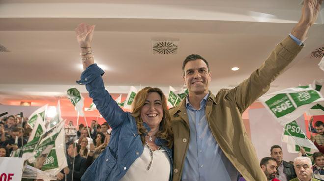Susana D�az defiende la legitimidad de Pedro S�nchez para buscar una alternativa al Gobierno de Rajoy.
